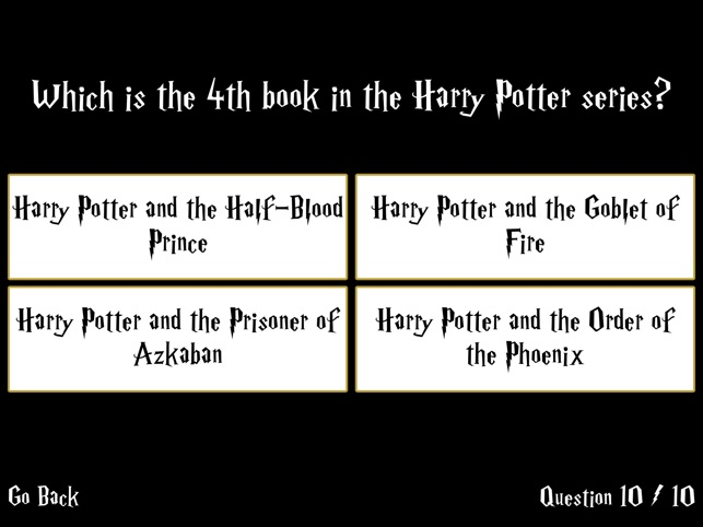 Ultimate Trivia for Harry Potter on the App Store