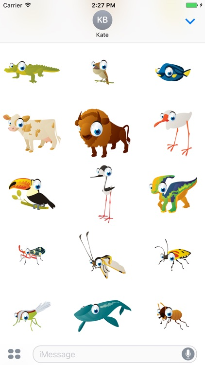 Animals Big Eyes Mania - 100+ Stickers Collection