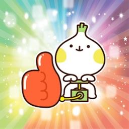 Cute shallot emoji animated - Fx Sticker