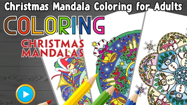 Christmas Mandala Coloring Book For Adults