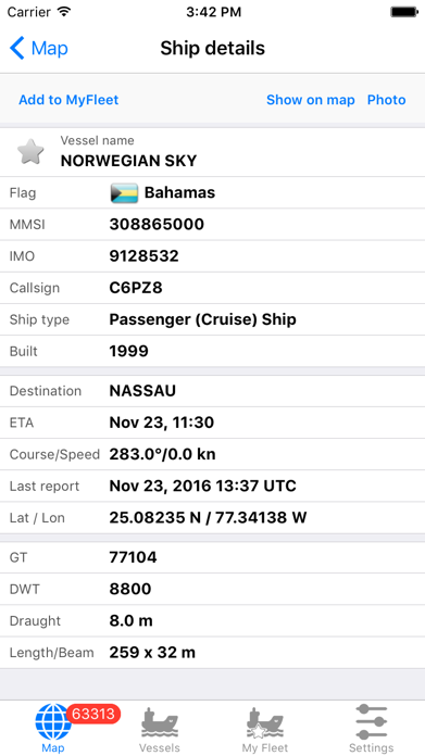 VesselFinder Free Screenshot