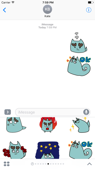 Lovely Puppet Stickers for iMessage screenshot two