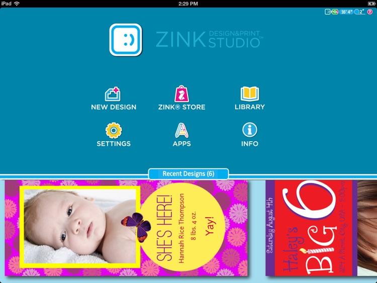 ZINK Print Studio for iPad