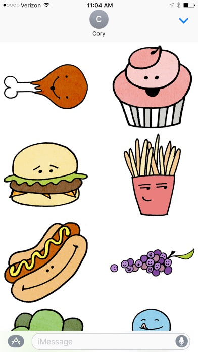 Food & Faces Sticker Pack