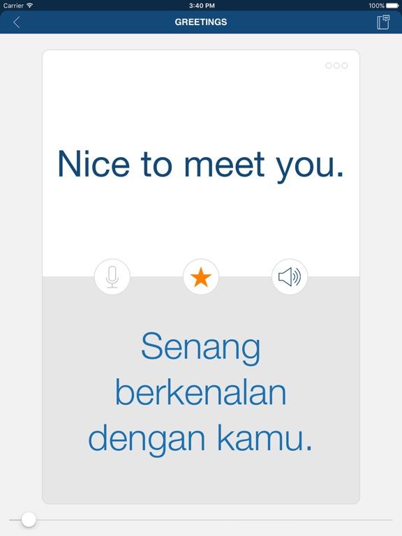 Learn Bahasa Indonesian iPad