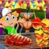 Kids Cooking Restaurant Barbecue Food Maker Game