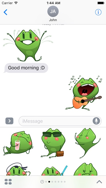 Frog Emotion Cute Sticker screenshot-4