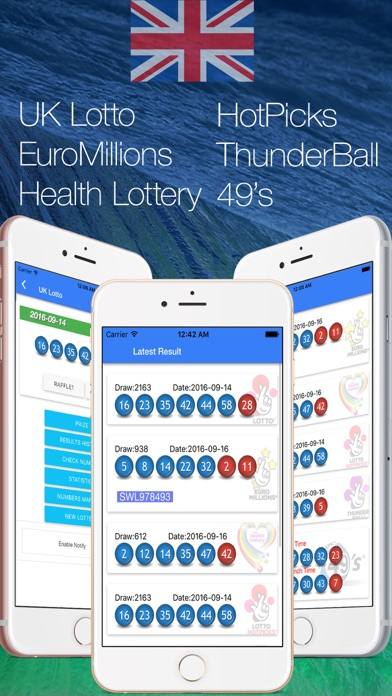 UK Lotto Thunderball 49 EuroMillions Health - App - Mobile