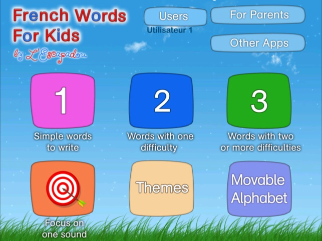 French Words for Kids on the App Store