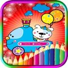 儿童着色书列车运输-教育游戏的孩子们与蹒跚学步 icon