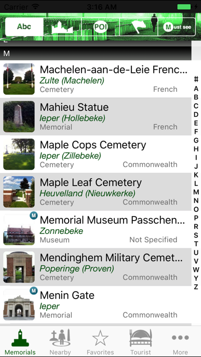 Flanders Fields Memorials screenshot one