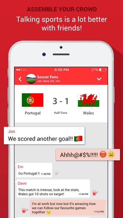 SportOn - Live Scores + Chat screenshot-3