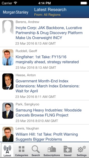 Morgan Stanley Research for iPad on the App Store