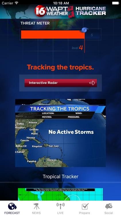 Hurricane Tracker 16 WAPT