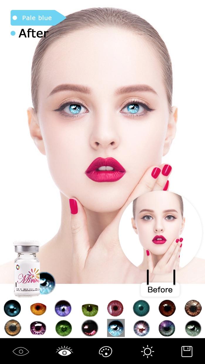Magic Eye Color-Face Makeup Plus&Red Eyes Remover Screenshot