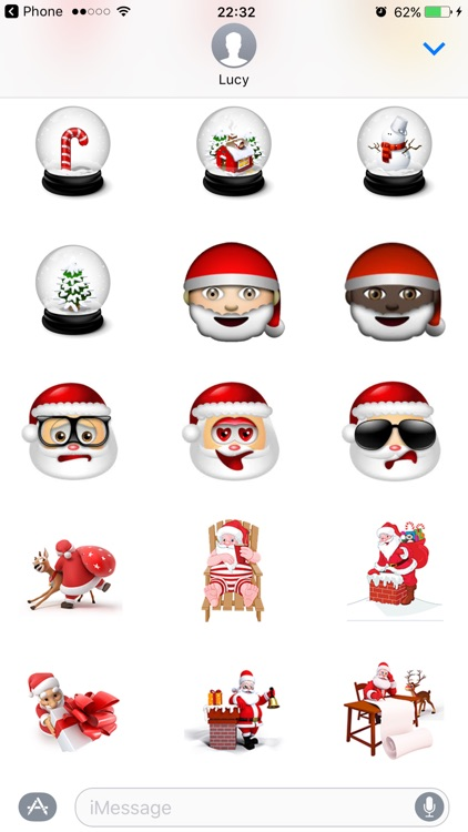 Santa Stickers Pack for Christmas iMessage Texting screenshot-3
