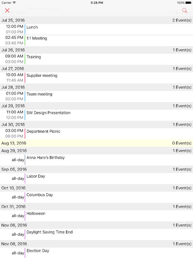 Week Calendar Pro Screenshot
