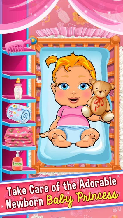 Princess Baby Salon Doctor Kids Games Free screenshot-1