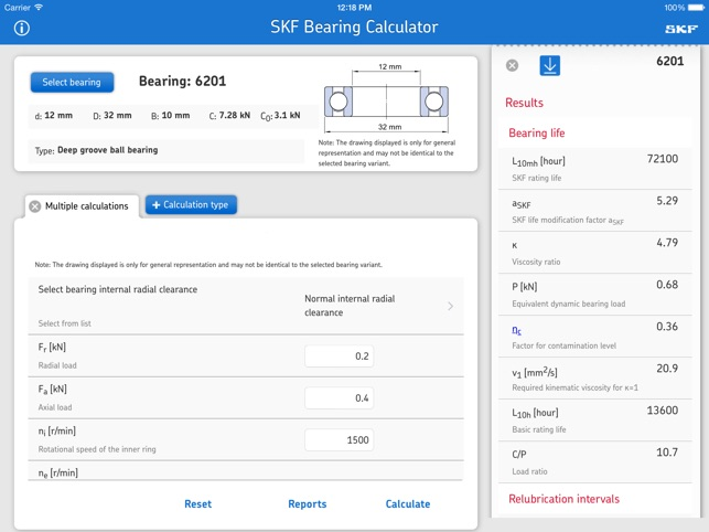 SKF Bearing Calculator on the App Store