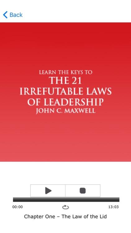 The 21 Irrefutable Laws Of Leadership Meditation screenshot-3