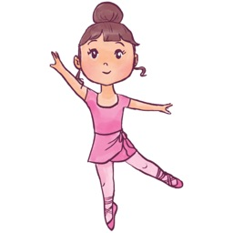Cute Ballerina Stickers For iMessage