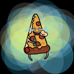 Party Pizza - funny food sticker emojis