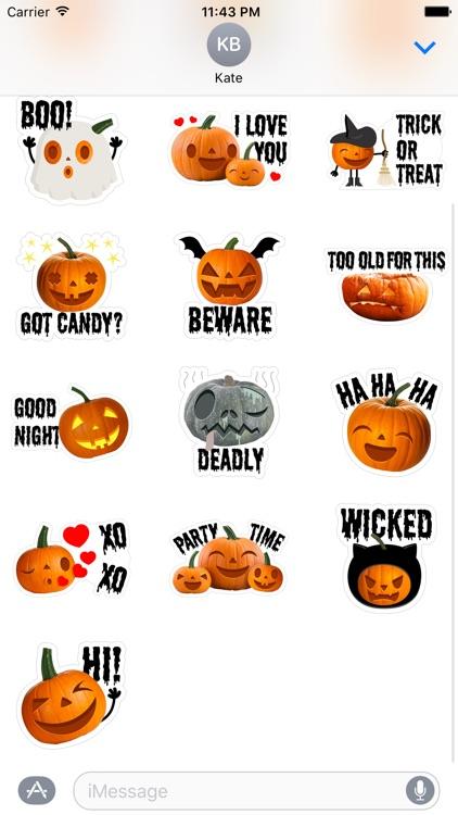 Crazy Pumpkin - Halloween Stickers for iMessage