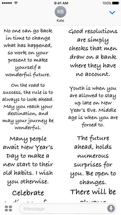 New Year Quotes - A to Z Stickers