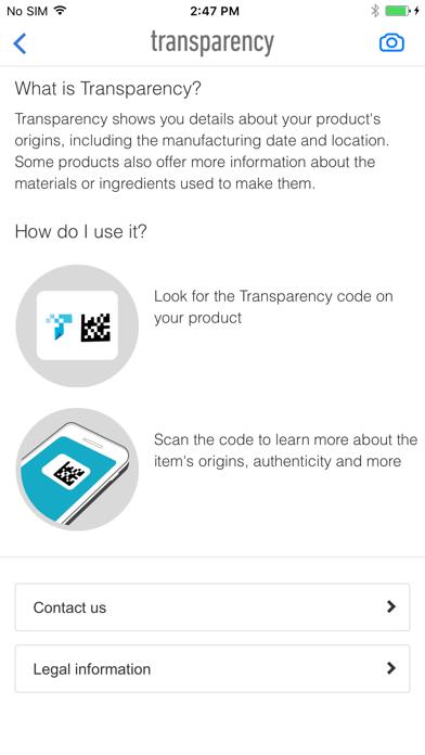Transparency - Screenshot