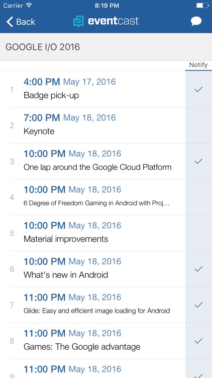 EventCast - the simplest event planner