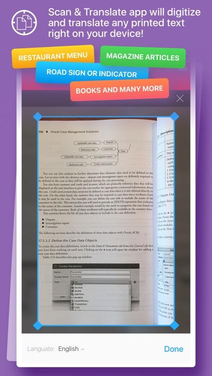 Scan & Translate+ - ocr Image scanner & translator