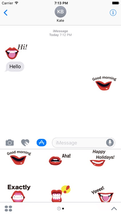 Girl Mouth Expressions Stickers Pack