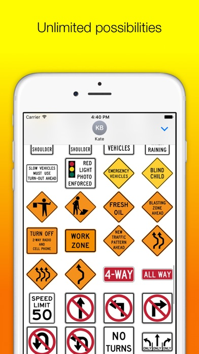 US Road Signs for iMessage screenshot three