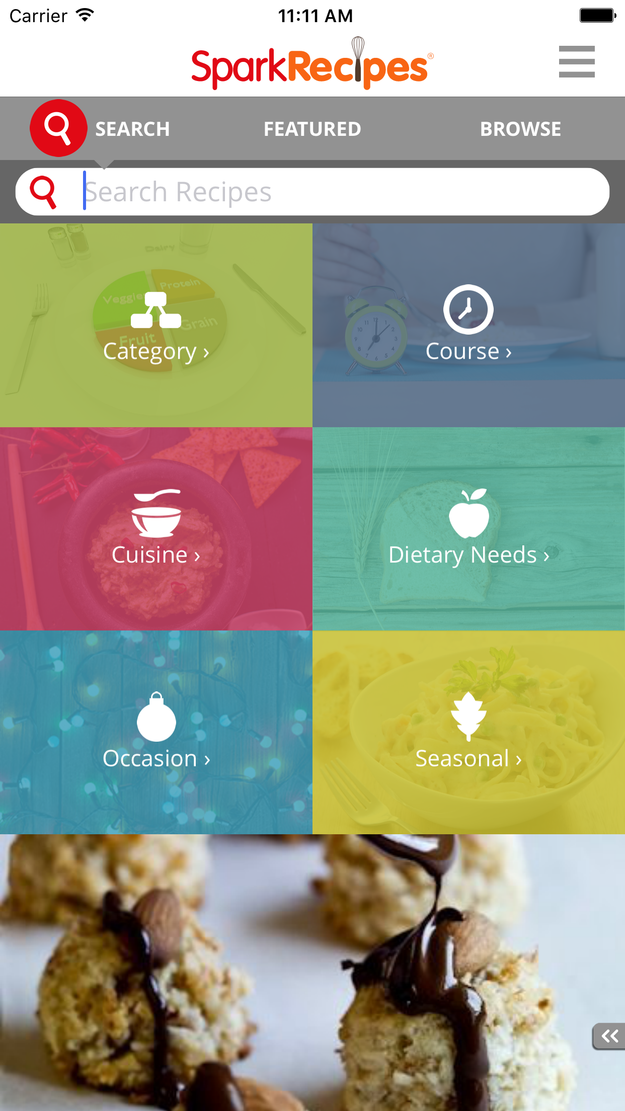 Healthy Recipes - SparkRecipes Screenshot