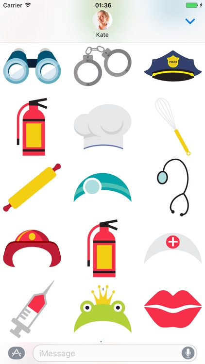 Costume Accessories - Stickers for iMessage screenshot-3