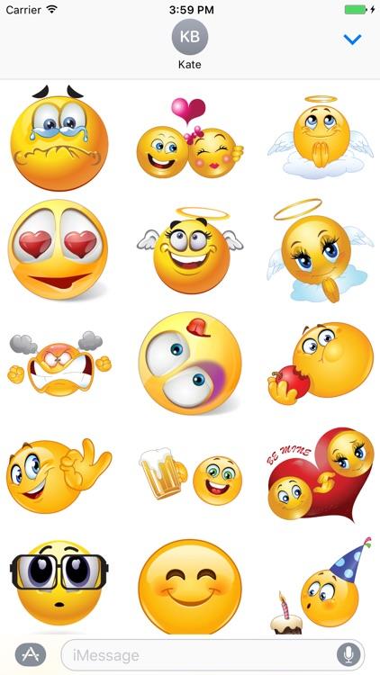 Yellow Smiley - 200+ emoji, sticker for iMessage screenshot-3