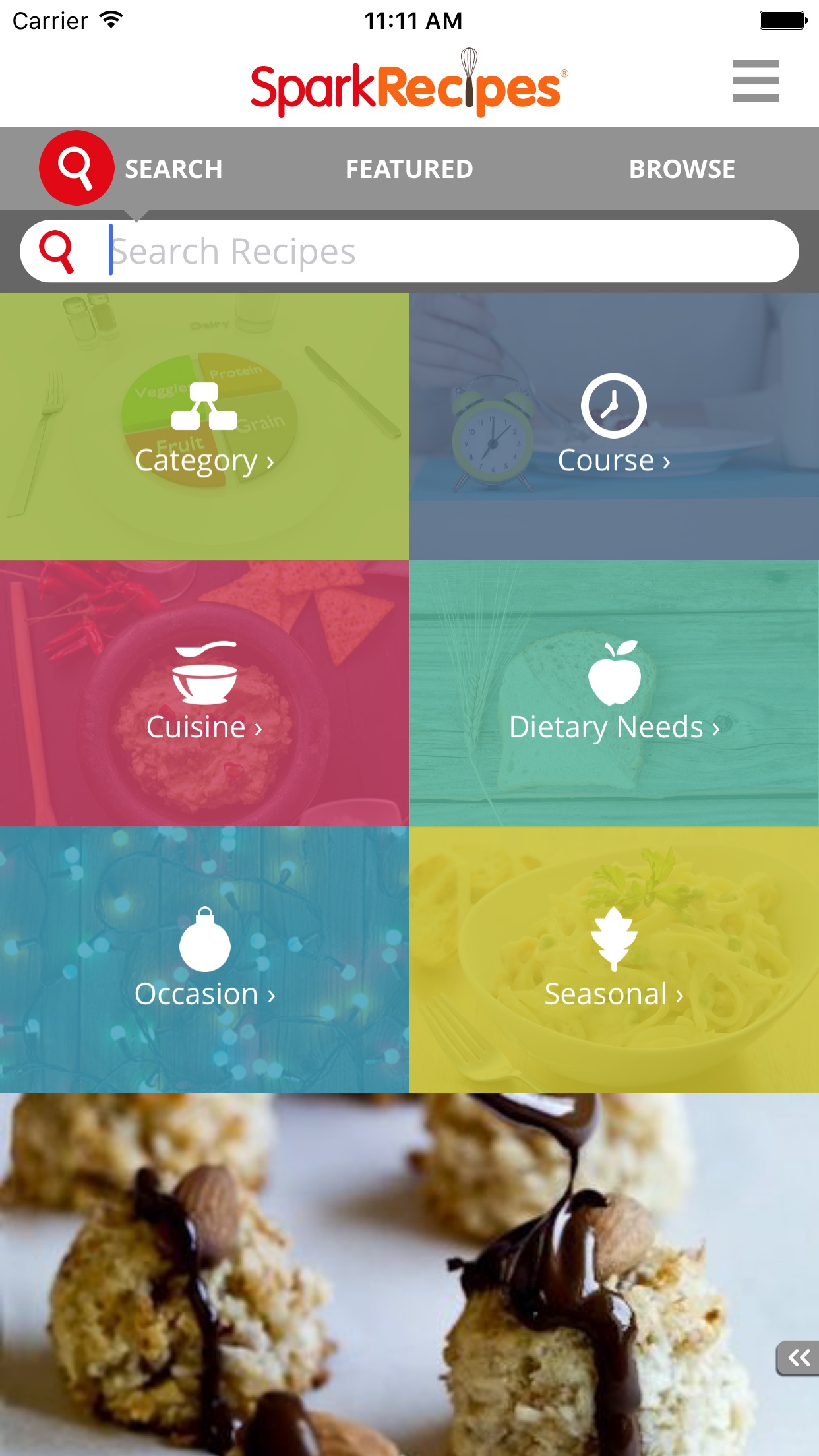 Healthy Recipes - By SparkRecipes Screenshot