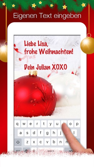 Himmlische Weihnachtsgrüße.Weihnachtsgrüße Weihnachtskarten Gestalten Im App Store
