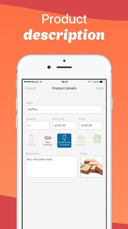 Avocadolist PRO Grocery Shopping List, Lists apps screenshot-4
