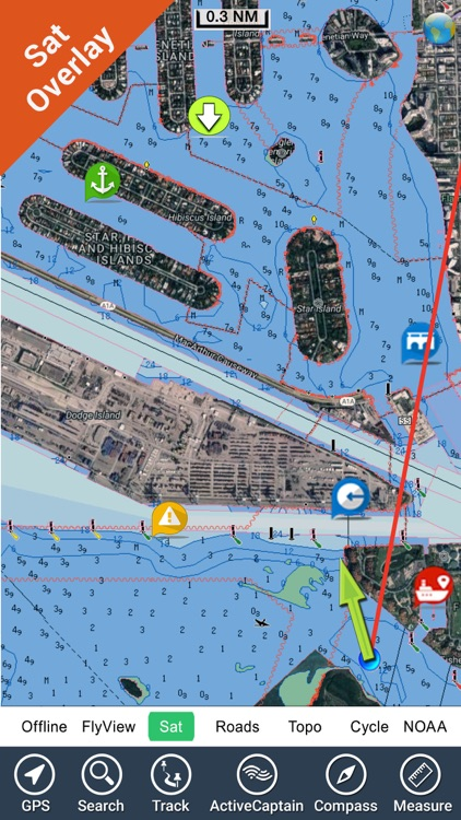 Marine: California - GPS Map Navigator