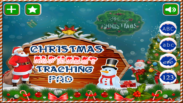 Alphabet Tracing Cursive & Numbers Christmas Game on the App Store