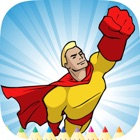 Superhero Coloring Book HD: Paint Heroes for Kids icon