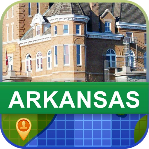 Offline Arkansas, USA Map - World Offline Maps