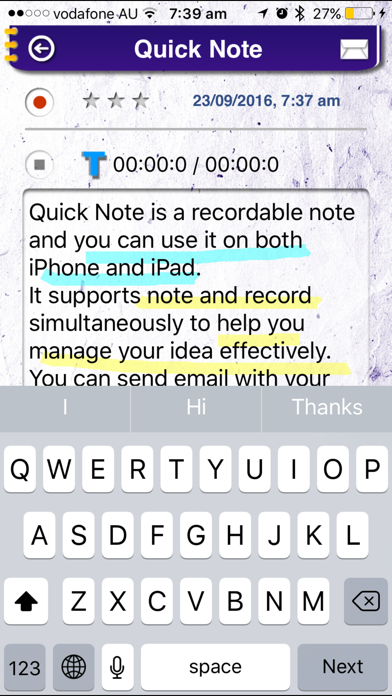 Quick Note Pro screenshot two