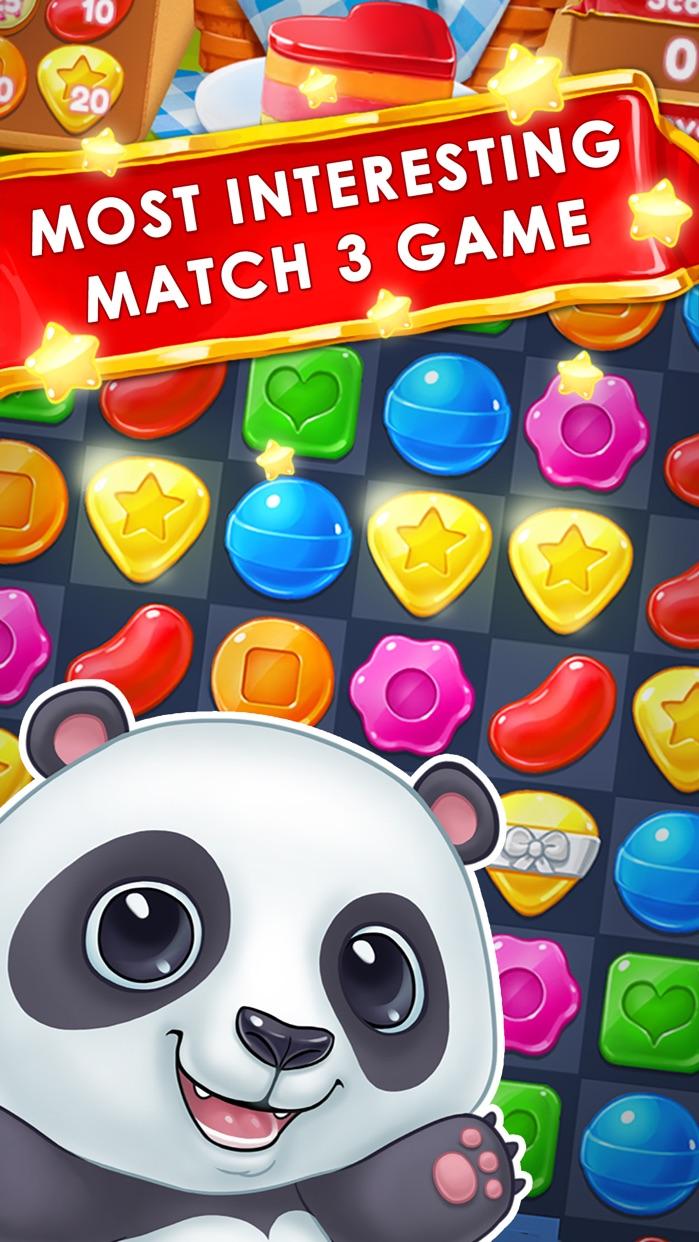 Panda Cookie - pop & smash jam Match 3 Games Free Screenshot