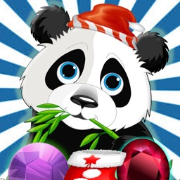 Cute Panda Jungle Match Puzzle Game For Christmas