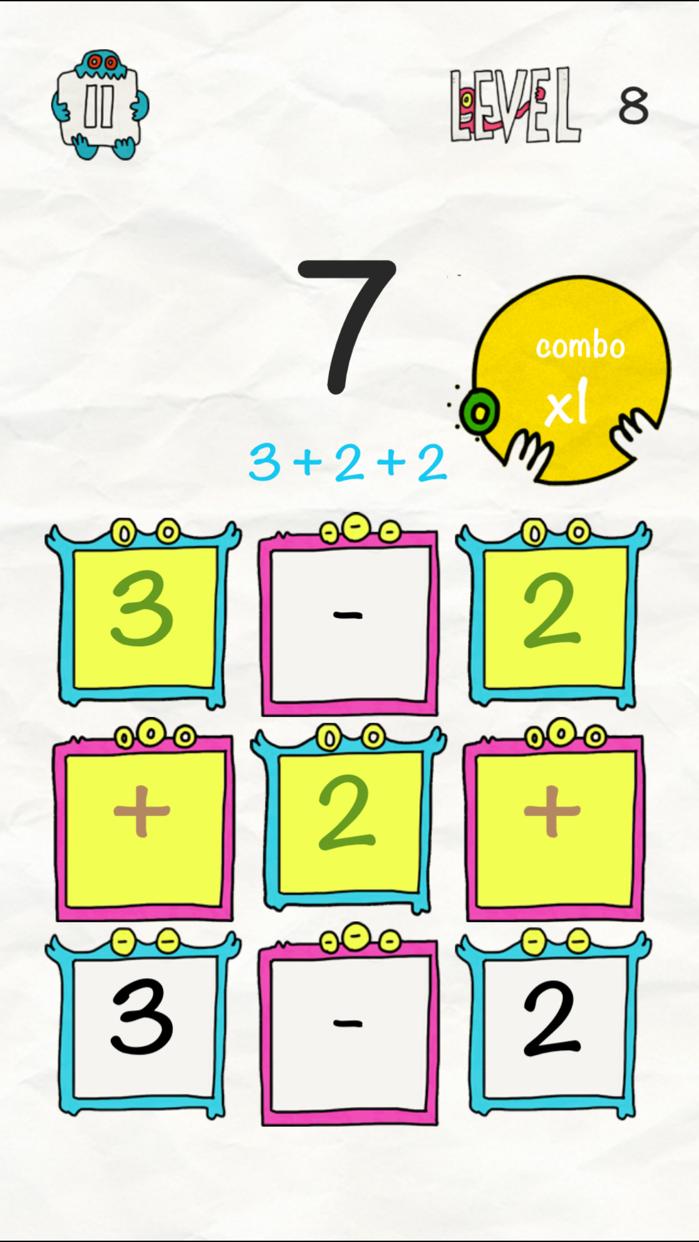 Math x Creature: Fun Math Puzzle Game Screenshot