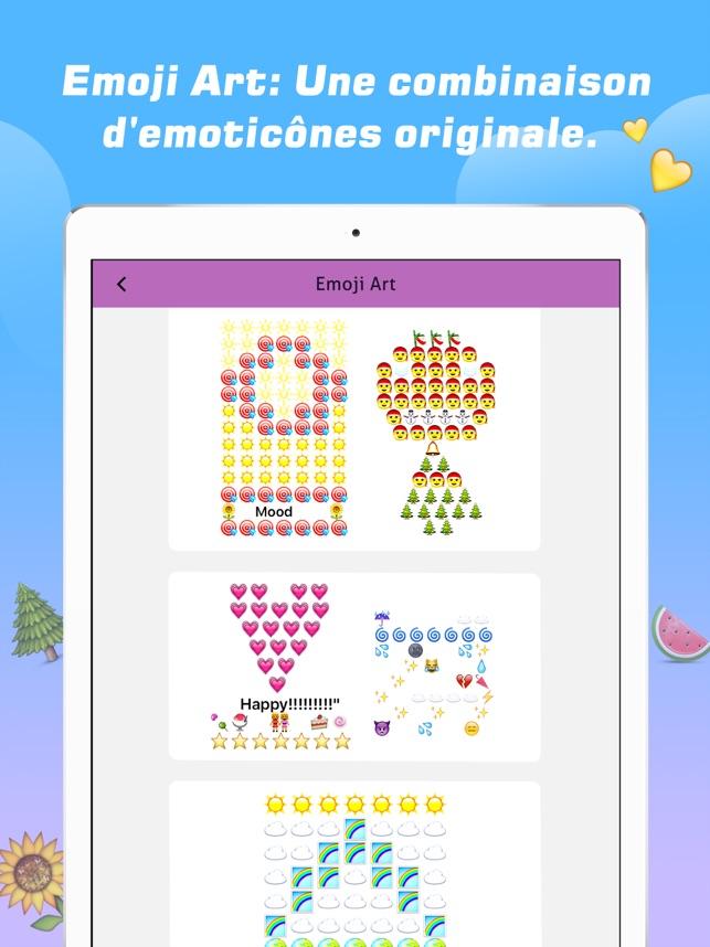 emoji lart des moticnes clavier polices dans lapp store - Dessin Avec Emoji