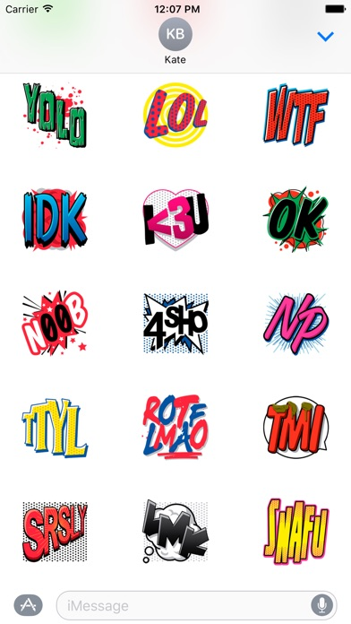 Cute Text Stickers