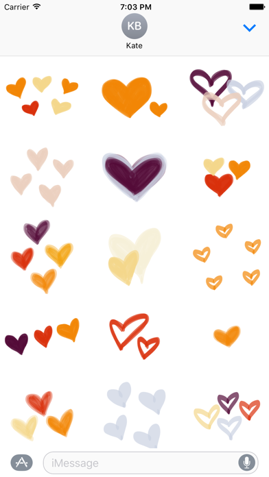 Fall Heart sticker, love you stickers for iMessageScreenshot of 2
